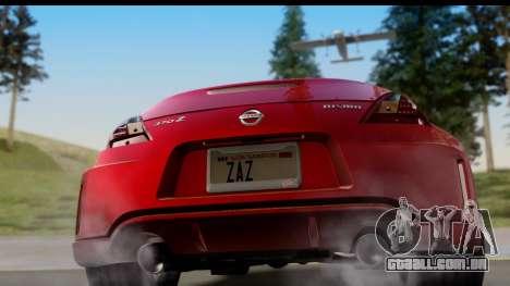 Nissan 370Z Nismo 2010 para GTA San Andreas vista direita