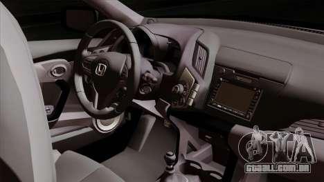 Honda CRZ Mugen Stance Miku Itasha para GTA San Andreas vista direita