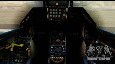 F-16C USAF 111th FS 90th Anniversary para GTA San Andreas vista interior