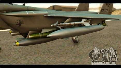 McDonnell Douglas F-15E Strike Eagle para GTA San Andreas vista direita