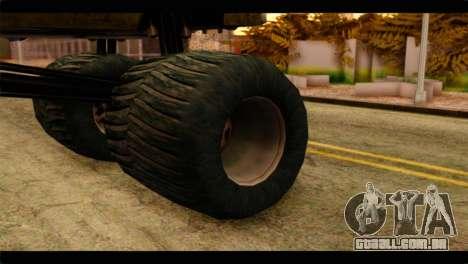 Monster Esperanto para GTA San Andreas traseira esquerda vista