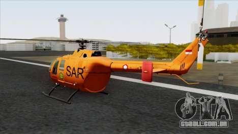 MBB BO-105 Basarnas para GTA San Andreas esquerda vista
