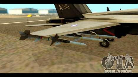 FA-18 Jolly Roger Black para GTA San Andreas vista direita