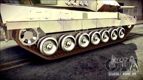 Leopard 2A6 para GTA San Andreas traseira esquerda vista