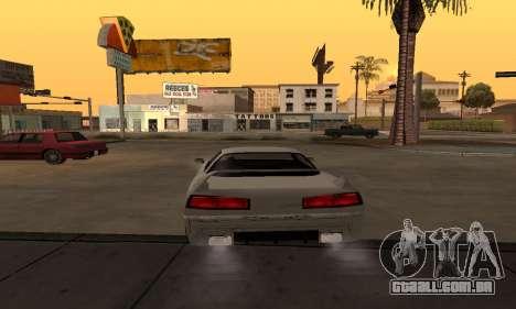 Infernus BanDit para GTA San Andreas traseira esquerda vista