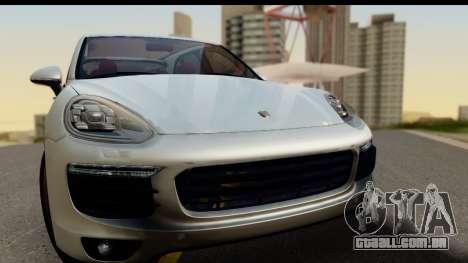Porsche Cayenne S 2015 para GTA San Andreas traseira esquerda vista