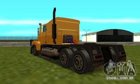 PS2 RoadTrain para GTA San Andreas esquerda vista