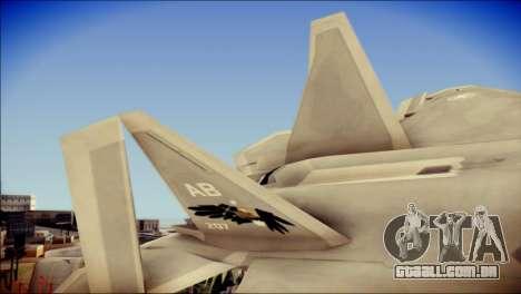F-22 Gryphus, Falco and Antares para GTA San Andreas traseira esquerda vista