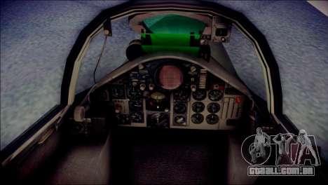 McDonnell Douglas F-4F Luftwaffe para GTA San Andreas vista traseira