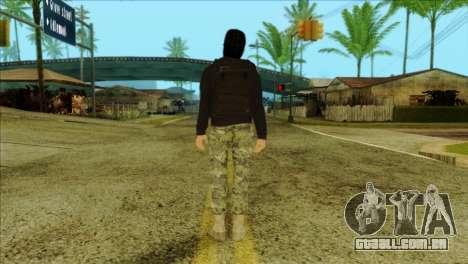 Sicario Skin v10 para GTA San Andreas segunda tela