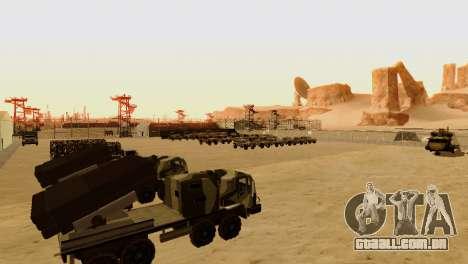 DLC 3.0 Militar atualização para GTA San Andreas sexta tela