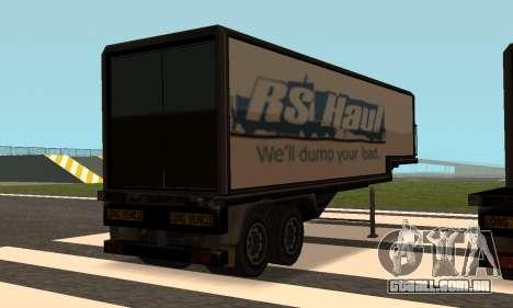 PS2 Article Trailer para GTA San Andreas traseira esquerda vista