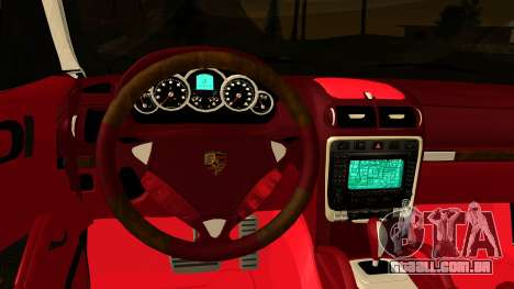 Porsche Cayenne S 2015 para GTA San Andreas vista interior