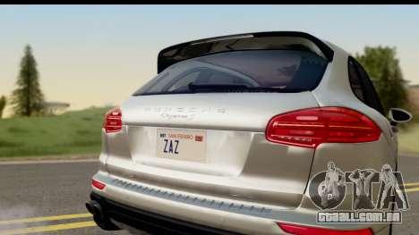 Porsche Cayenne S 2015 para GTA San Andreas vista direita