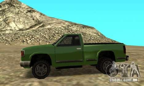 PS2 Yosemite para GTA San Andreas traseira esquerda vista