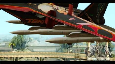SU-35 Flanker-E Tekken para GTA San Andreas vista direita