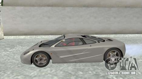 1992 McLaren F1 Clinic Model Custom Tunable v1.0 para GTA San Andreas vista direita