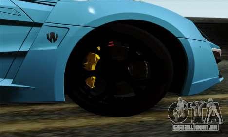Lykan Hypersport 2014 EU Plate Livery Pack 1 para GTA San Andreas traseira esquerda vista