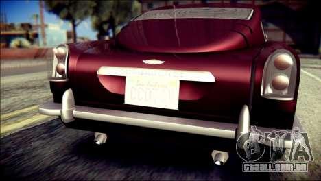 GTA 5 Dewbauchee JB 700 para GTA San Andreas vista traseira