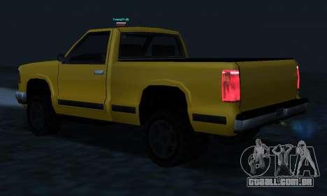 PS2 Yosemite para GTA San Andreas vista inferior