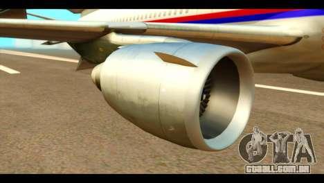 DC-10-30 PLL LOT para GTA San Andreas vista direita