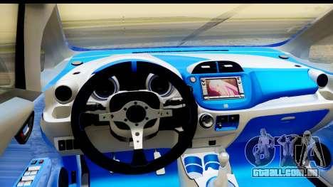 Honda Fit 2009 JDM Modification para GTA San Andreas vista interior