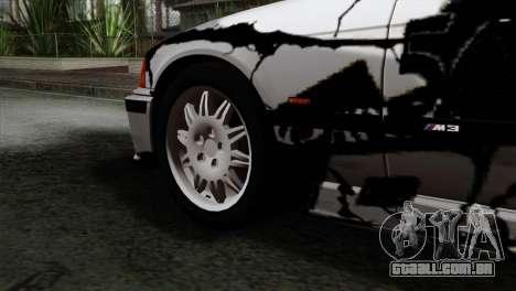 BMW M3 E36 Drift Editon para GTA San Andreas traseira esquerda vista