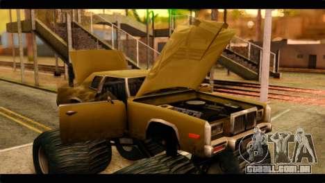 Monster Esperanto para GTA San Andreas vista traseira