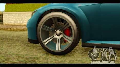 GTA 5 Ubermacht Zion XS IVF para GTA San Andreas traseira esquerda vista