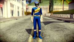 Power Rangers Kyoryu Blue Skin para GTA San Andreas