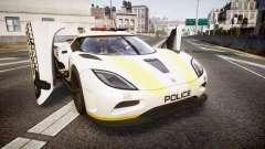 Koenigsegg Agera 2013 Police [EPM] v1.1 Low Qual