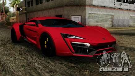 Lykan Hypersport 2014 Livery Pack 1 para GTA San Andreas