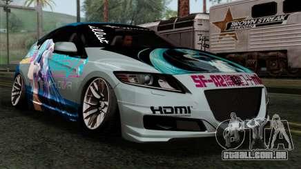 Honda CRZ Mugen Stance Miku Itasha para GTA San Andreas