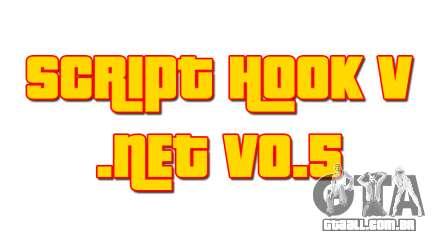 Script Hook V .NET v0.5 para GTA 5