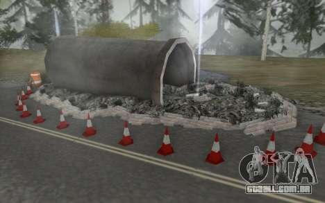 Estrada de reparação para GTA San Andreas quinto tela