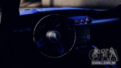 Ford Mustang GT 2015 para GTA San Andreas vista traseira