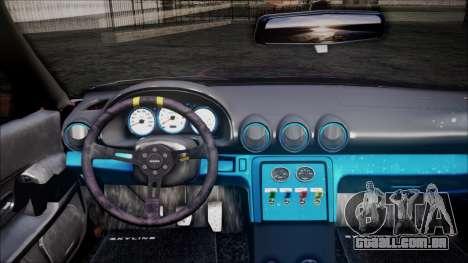 Nissan Skyline GT-R R32 Battle Machine para GTA San Andreas vista traseira
