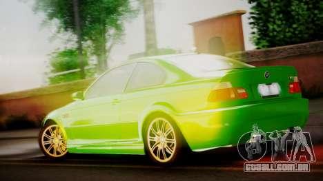 BMW M3 E46 v2 para GTA San Andreas vista direita