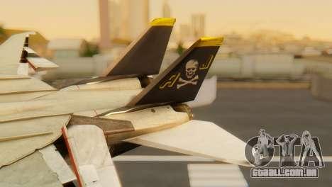 F-14A Tomcat VF-202 Superheats para GTA San Andreas traseira esquerda vista