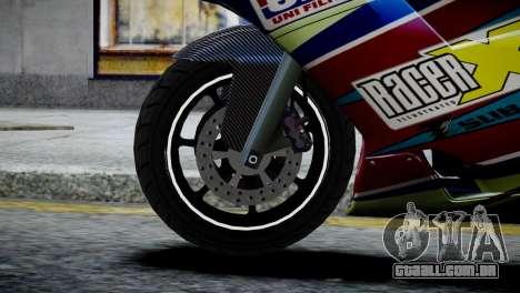 Bike Bati 2 HD Skin 2 para GTA 4 traseira esquerda vista