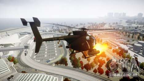 AH-6 Little Bird para GTA 4 esquerda vista