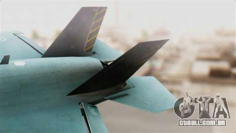 F-35B Lightning II para GTA San Andreas traseira esquerda vista