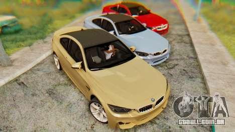 BMW M4 2015 IVF para GTA San Andreas esquerda vista
