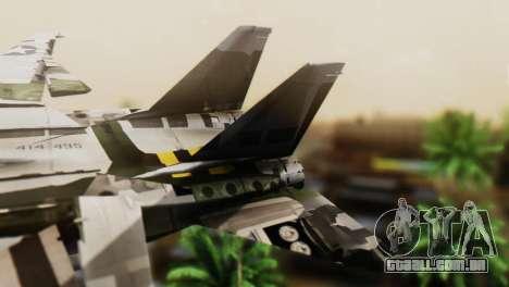 F-14D Super Tomcat VF-2 Bounty Hunters para GTA San Andreas traseira esquerda vista