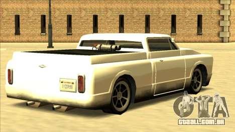Slamvan Final para GTA San Andreas vista interior