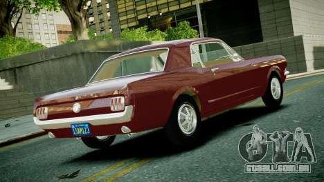 Ford Mustang 1965 para GTA 4 esquerda vista