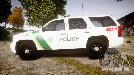 Chevrolet Tahoe Niagara Falls Parks Police [ELS] para GTA 4 esquerda vista