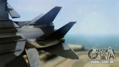 F-14D Super Tomcat Halloween Pumpkin para GTA San Andreas traseira esquerda vista