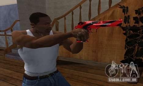 Black Lines Deagle para GTA San Andreas segunda tela