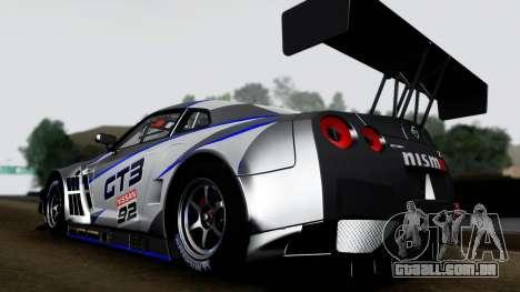 Nissan GT-R (R35) GT3 2012 PJ3 para GTA San Andreas vista direita